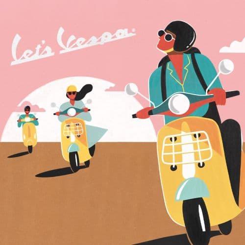 Koop een nieuwe Vespa motorscooter